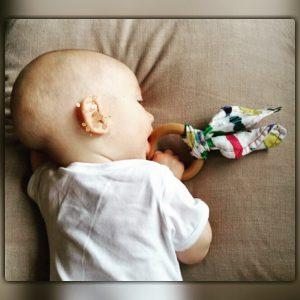 ekologisk bitring för bebis saliv
