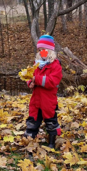 Ebba plockar löv
