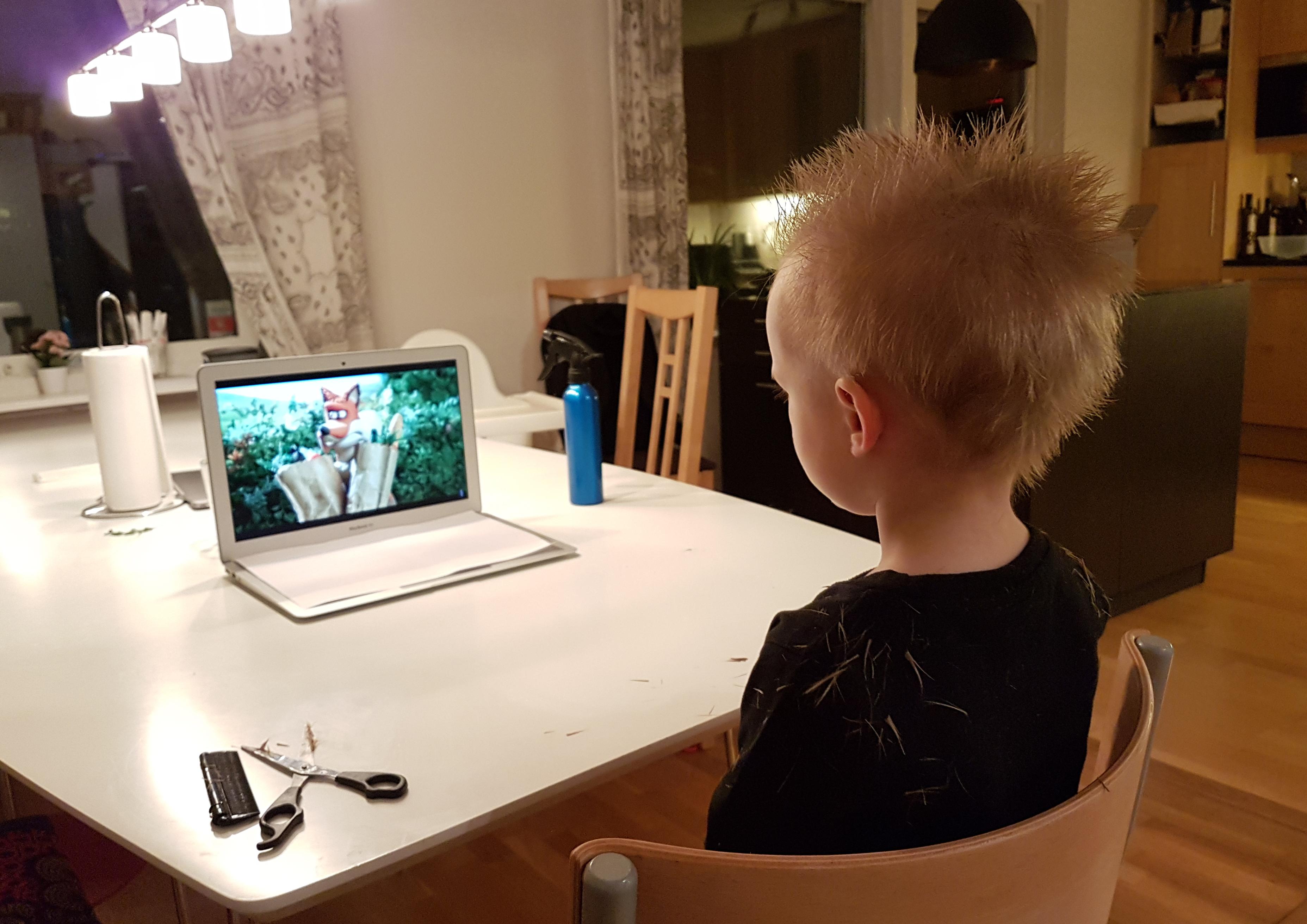 klippa en 2-åring