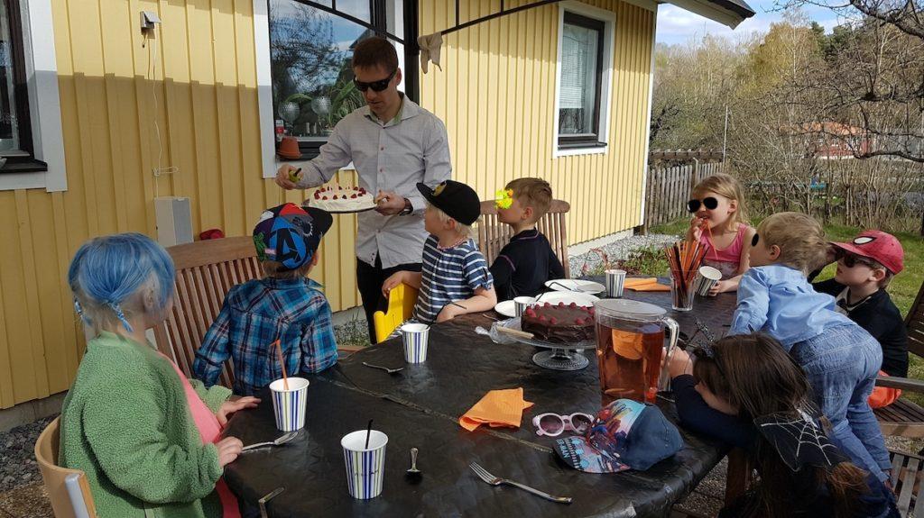 tårta femårskalas
